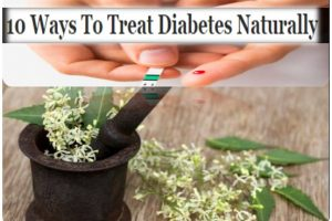 10 Ways To Treat Diabetes Naturally